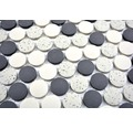 Keramikmosaik CU K210 30,5x31,5 cm creme/schwarz
