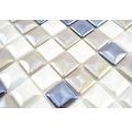 Glasmosaik Sandy 248 31,5x31,5 cm weiß/beige/schwarz