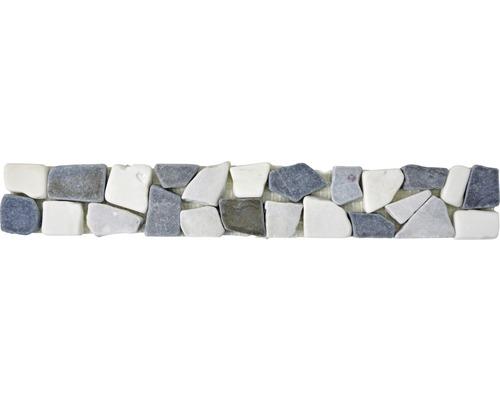 Natursteinmosaik BO Ciot GW9 5x30 cm grau/weiß/schwarz
