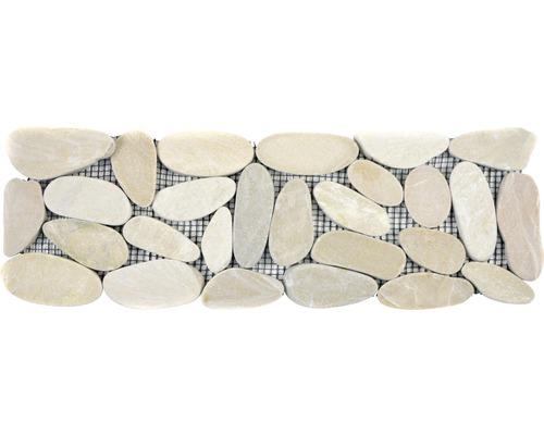 Flusskieselborde BO IN14KS 10x30 cm weiß