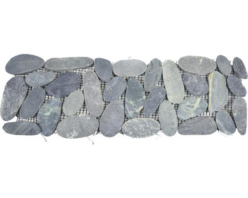 Flusskieselborde BO IN24KS 10x30 cm schwarz