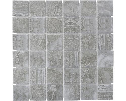 Keramikmosaik CIM Q48 CDG 30,6x30,6 cm grau