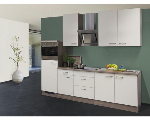 Küchenzeile Eico 270 cm magnolienweiß inkl. Einbaugeräte