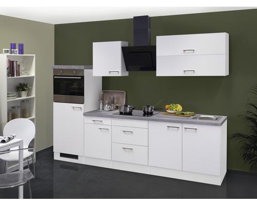 Küchenzeile Varo 270 cm weiß inkl. Einbaugeräte