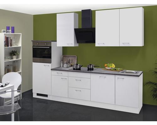 Küchenzeile Lucca 280 cm weiß inkl. Einbaugeräte