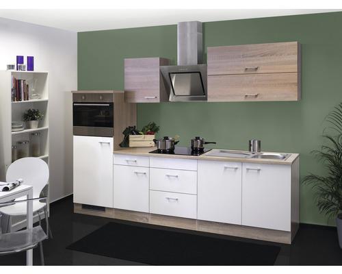 Küchenzeile Samoa 270 cm weiß inkl. Einbaugeräte
