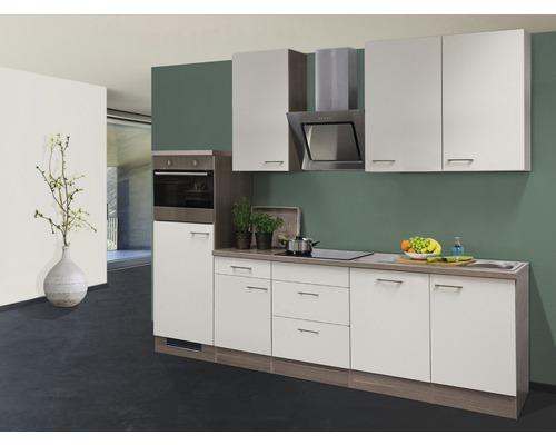 Küchenzeile Eico 280 cm magnolienweiß inkl. Einbaugeräte