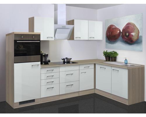 Winkelküche Abaco 280x170 cm perlmutt inkl. Einbaugeräte