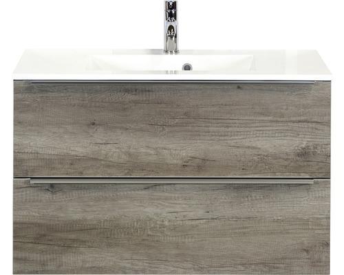 Badmöbel-Set Pulse 90 cm mit Waschtisch Nebraska Eiche