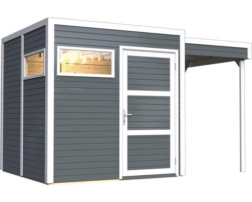 Gartenhaus Cubo 2 mit Fußboden und Schleppdach 359 x 234 cm anthrazit