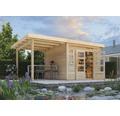 Gartenhaus Konsta Landau 6 mit Schleppdach 2,4 m 506 x 274 cm natur