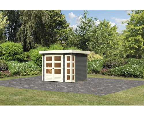 Gartenhaus Karibu Naomi 3 242 x 217 cm terragrau