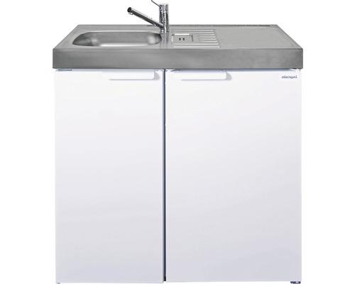 Miniküche stengel Kitchenline MK90, Breite 90 cm, Becken Links, weiß glänzend 1109000006100