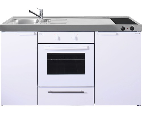 Miniküche stengel Kitchenline MKB10, Breite 10 cm, Becken Links, weiß  glänzend