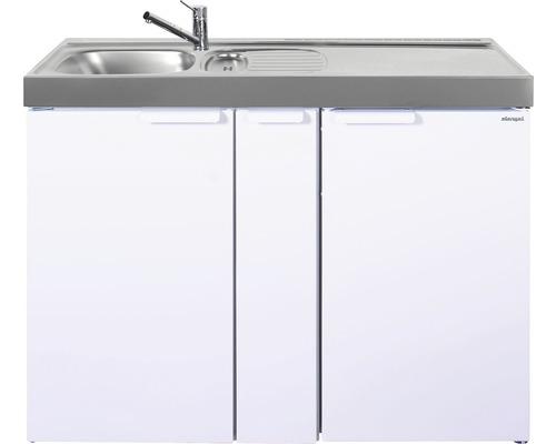 Miniküche stengel Kitchenline MK120A, Breite 120 cm, Becken Links, weiß glänzend 1112000206100