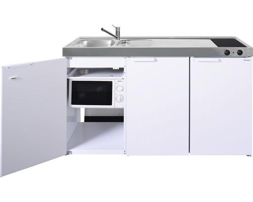 Miniküche stengel Kitchenline MKM150, Breite 150 cm, Becken Links, weiß glänzend 1115001004100