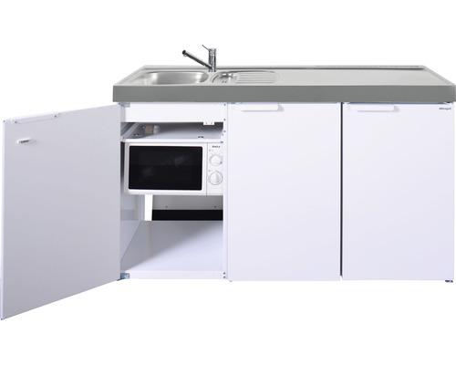 Miniküche stengel Kitchenline MKM150, Breite 150 cm, Becken Links, weiß glänzend 1115001006100