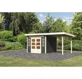 Gartenhaus Konsta Landau 6 mit Schleppdach 506 x 274 cm terragrau