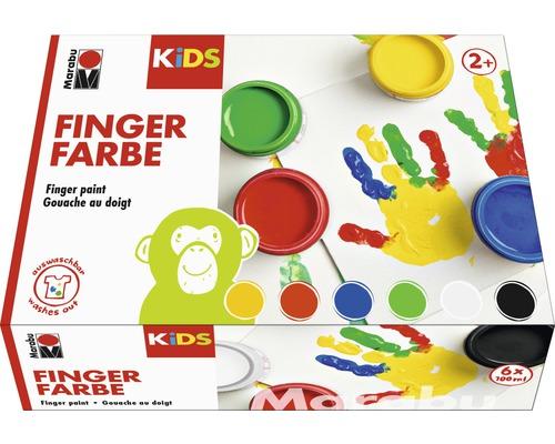 Marabu KIDS Fingerfarbe 100ml 6er-Set