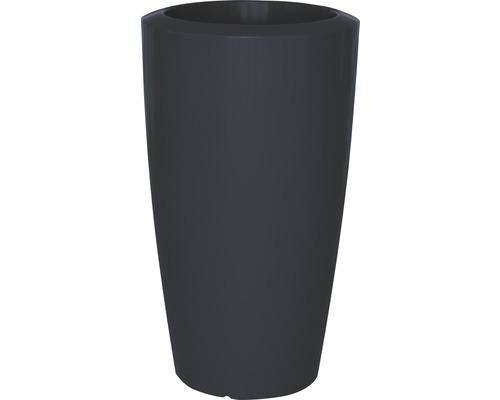 Pflanzvase Degardo Rovio III Kunststoff Ø 62 H 110 cm anthrazit