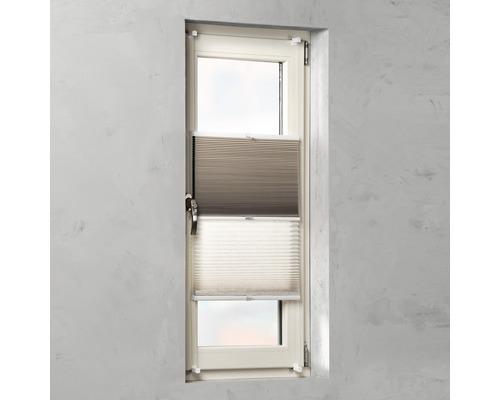 Soluna Doppelplissee mit Seitenverspannung, leinen/beige, 45x130 cm