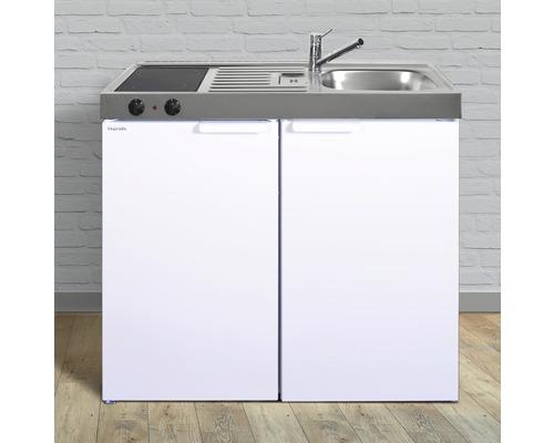 Miniküche stengel Kitchenline MK100, Breite 100 cm, Becken Rechts, weiß glänzend 1110000003100