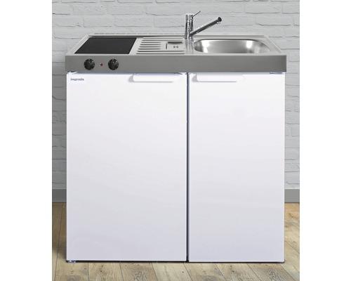 Miniküche stengel Kitchenline MK90, Breite 90 cm, Becken Rechts, weiß glänzend 1109000003100