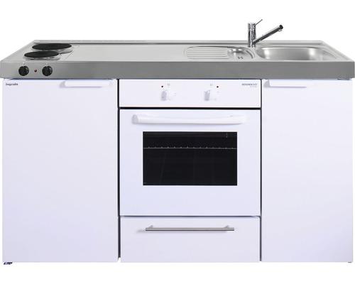 Miniküche stengel Kitchenline MKB150, Breite 150 cm, Becken Rechts, weiß glänzend 1115000501100