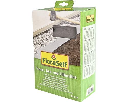 Trenn-, Bau- und Filtervlies FloraSelf 3x1 m 130g/m²