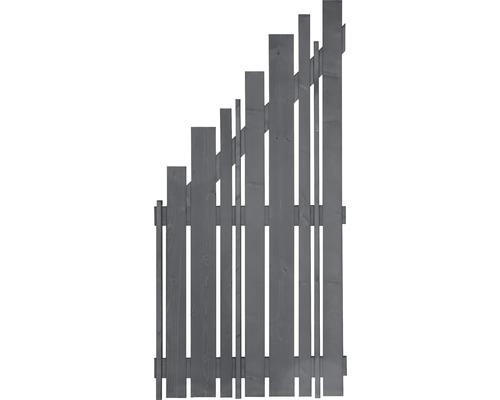 Abschlusselement Various 90 x 180/90 cm links, basaltgrau