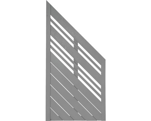 Abschlusselement Konsta Reddy 90 x 180/90 cm rechts, hellgrau