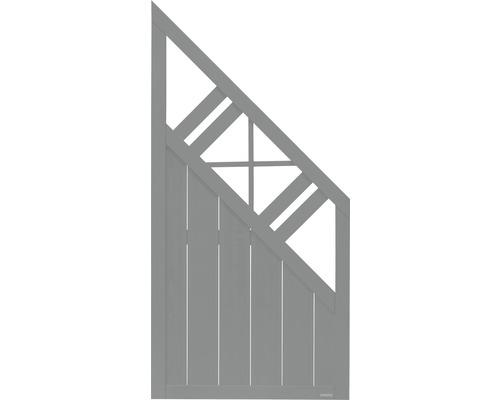 Abschlusselement Konsta Provence 90 x 180/90 cm rechts, hellgrau