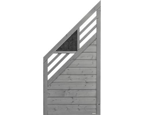Abschlusselement Konsta Andria 90 x 180/90 cm links, hellgrau
