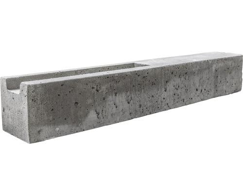 Anfangspfosten Standard doppelseitig 193/248x13x13cm, grau