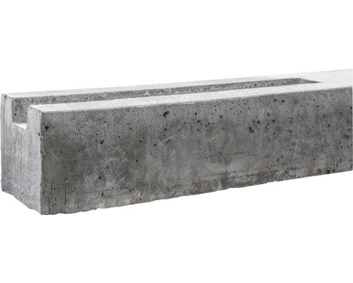 Anfangspfosten Standard einseitig 116/170x11x11cm, grau
