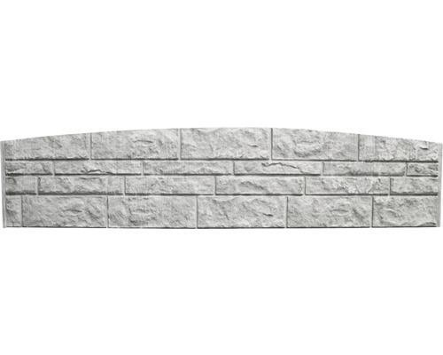 Betonzaunbogenplatte Standard Fels 200x45x3,5cm