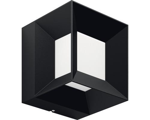 LED Außenwandleuchte 1x8W 800 lm warmweiß 130x130 mm Parterre schwarz