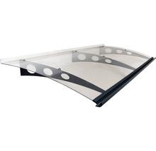 Vordach ARON Protega B:205 cm anthrazit Polycarbonat transparent