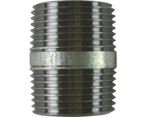 "Gebo Rohrnippel 1/2""x40 mm verzinkt"