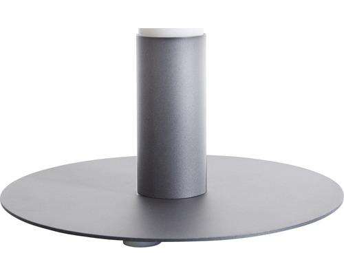 Standfuß Degardo für Lunocs silbergrau/metallic/matt Ø 500 mm