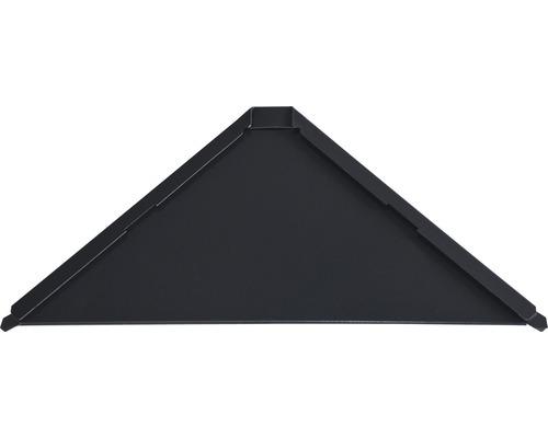 PRECIT Aluminium Startplatte für Dachschindel Quadra anthracite grey RAL 7016 158 x 158 x 0,7 mm