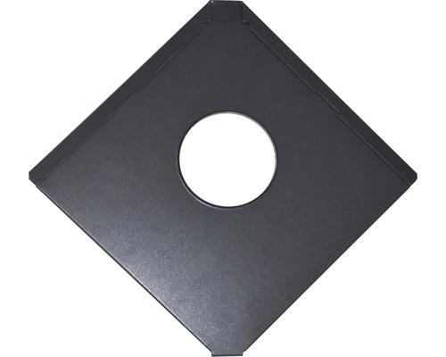 PRECIT Aluminium Grundplatte Quadra für Dachdurchführung anthracite grey RAL 7016 316 x 316 x 0,7 mm