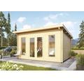 Gartenhaus Karibu Bozena 3 mit Fußboden 470 x 380 cm natur