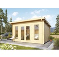 Gartenhaus Karibu Bozena 1 mit Fußboden 380 x 320 cm natur