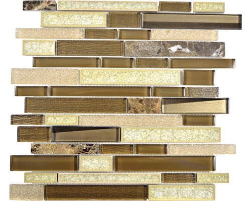 Glasmosaik Sonja 58 30x29,2 cm beige/braun