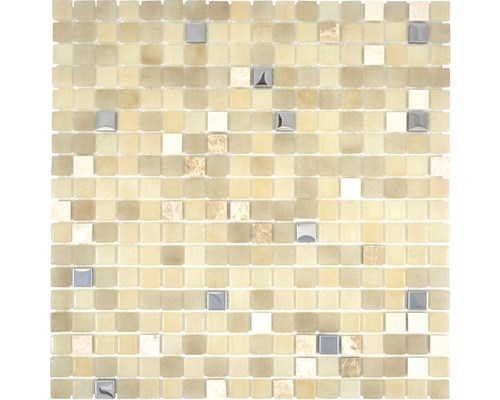 Glasmosaik Lope 14AN 30x30 cm beige