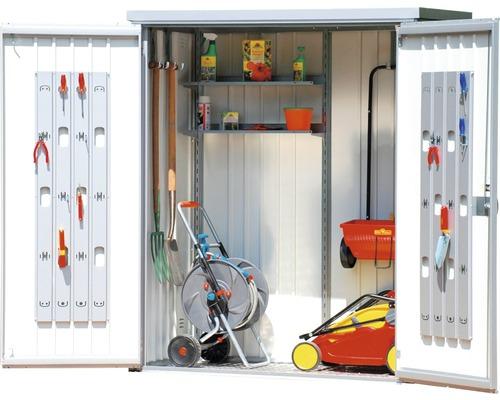 Geräteschrank biohort 155 x 83 x 182,5 cm, silber-metallic