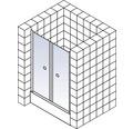 Pendeltür in Nische Schulte Garant Breite 80 cm Klarglas Profil aluminium