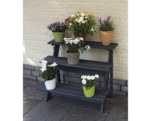 Blumentreppe Anja Kiefer 78x55x62 cm anthrazit