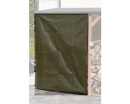 Wetterschutz für Kaminholzregale 120x140 cm grün